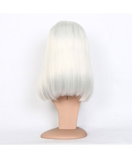 Classics white full lace wig long straight bob synthetic wig