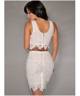 Graceful Sexy Two-piece Lace Skirt Set