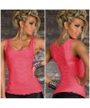 Exquisite Non-sleeves Lace Tank Top