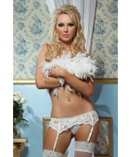 Lace Affair Garter Belt Plus