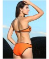 Sexy Ribbon Textured 2 pieces Bikini Swimsuit