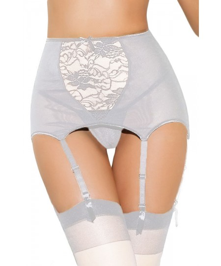 Plus Size High-waisted Lace Hollow-out Garter Belt