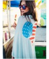 Sexy summer blue buckle sunscreen cardigan mercerized cotton casual dress