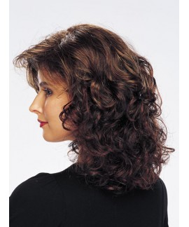 Mid-lenght curly & wavy natural hair wig