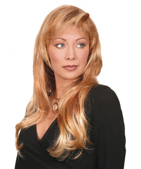 Long curly womens layered natural hair wig