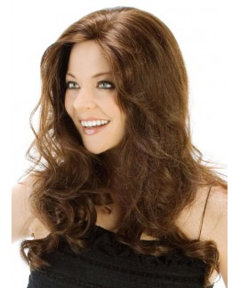 Mid-length curly womens natural hair wig