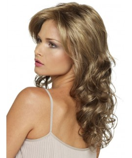 Womens curly mid-length hair layered wigs