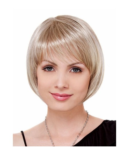 Short straight bobs womens natural hair wigs