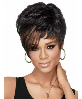 Short straight pixes & boycuts black womens wigs