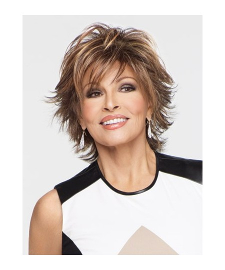 Short curly charming womens brown natural hair wigs