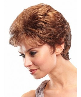 Womens curly short layered natural wigs