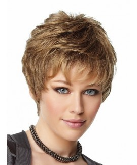 Short Straight Strawberry Blonde Womens Wig