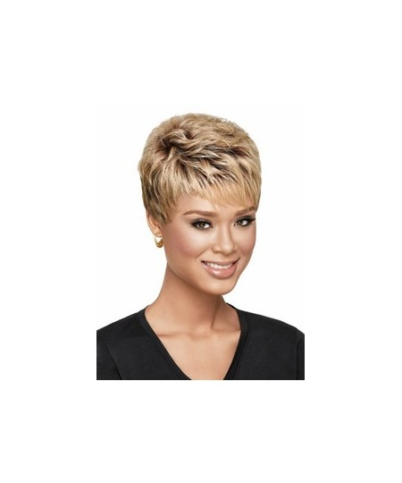 Short pixes & boycuts blonde womens natural wig