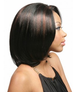 Mid-length straight natural hair wigs for african american women