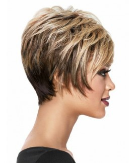 Short curly charming womens natural hair wigs