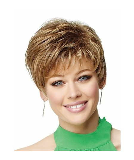 Short curly cheap womens pixie natural hair wigs