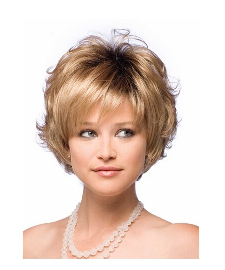 Pretty Amazing Smart Short Layered Cut Curly wig