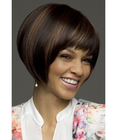 Womens short straight bobs erin amore cancer wigs coffeelatte