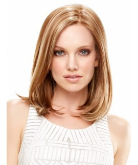 Mid-length straight womens layered wig