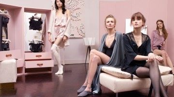 Etam lingerie and nightwear series of static show debut in Paris 2016 Winter Fashion Week
