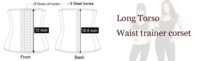 long torso waist trainer corset