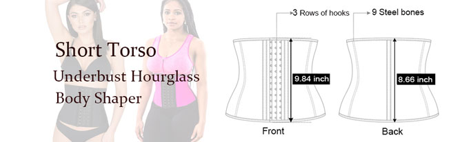 short torso underbust hourglass body shaper